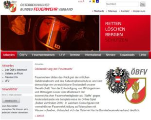 Screenshot http://www.bundesfeuerwehrverband.at/